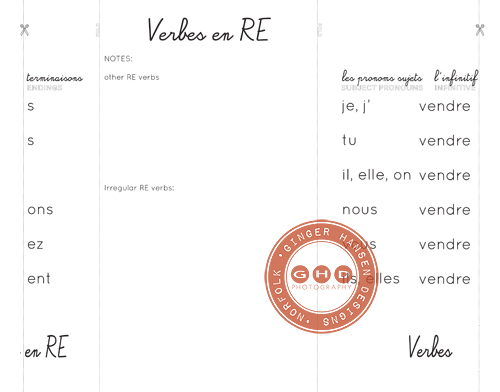 Four French verb foldables {ER, IR, RE and FAIRE} - ginger hansen ...